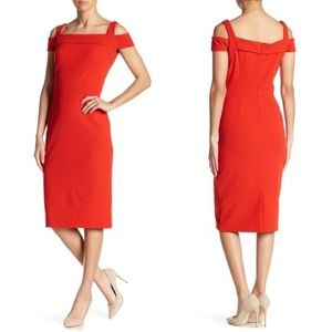 ECI T-Strap Cold Shoulder Bodycon Dress